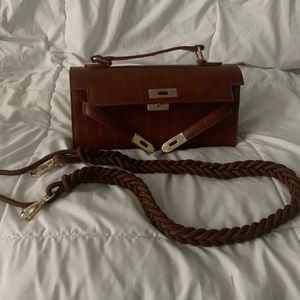 RayLuv dark brown clutch